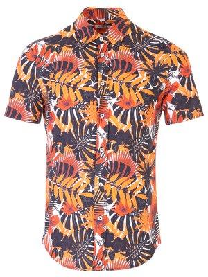 Рубашка хлопковая с принтом DIRK BIKKEMBERGS