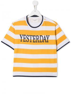 Полосатая футболка Yesterday Alberta Ferretti Kids. Цвет: желтый