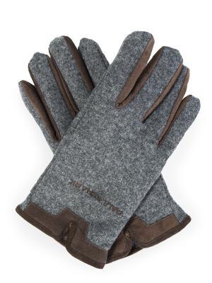 Текстильные перчатки Paul&Shark. Цвет: разноцветный