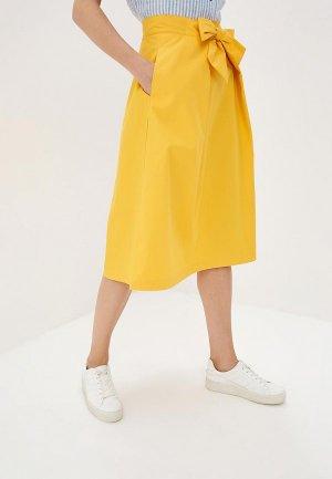 Юбка Zarina. Цвет: желтый