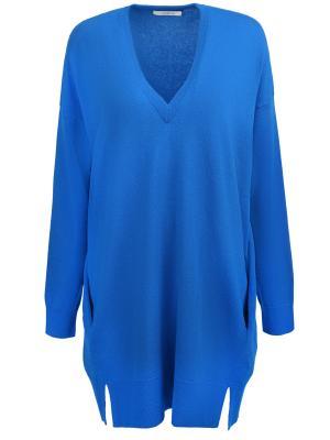 Пуловер свободного кроя DOROTHEE SCHUMACHER. Цвет: синий