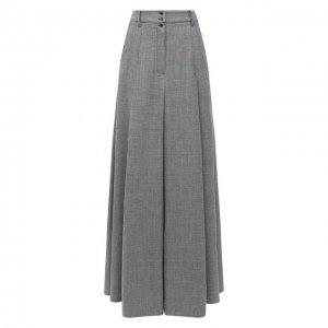 Шерстяная юбка Vetements. Цвет: серый