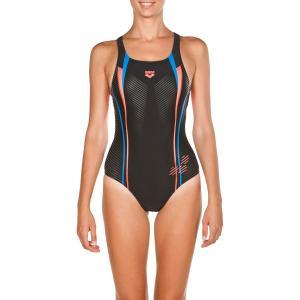 Купальник слитный для бассейна Roy Swim Pro ARENA. Цвет: черный/ розовый