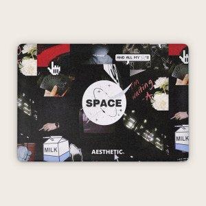 1 лист 17 дюймов защитная наклейка для ноутбука с эстетическии коллажом SHEIN. Цвет: многоцветный