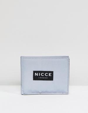 Бумажник Nicce London. Цвет: серый