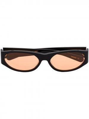 Солнцезащитные очки в овальной оправе FLATLIST. Цвет: черный