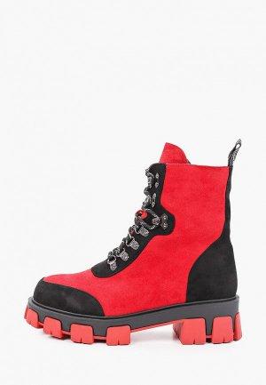 Ботинки Inario. Цвет: красный
