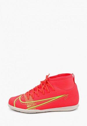Бутсы зальные Nike JR SUPERFLY 8 CLUB IC. Цвет: розовый