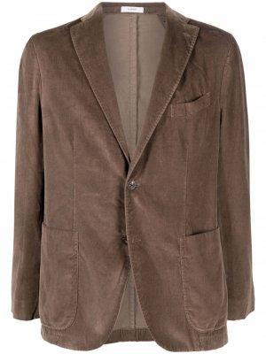 Бархатный пиджак Boglioli. Цвет: коричневый