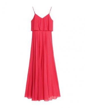 Длинное платье HALSTON. Цвет: коралловый