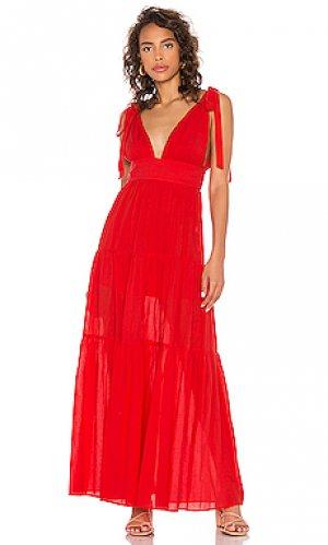 Платье rama Lovers + Friends. Цвет: красный