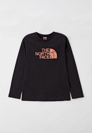 Лонгслив The North Face. Цвет: черный