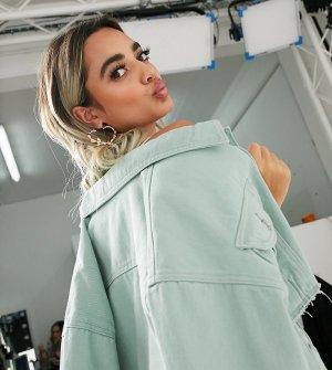 Короткая джинсовая куртка от комплекта мятного цвета -Зеленый Missguided Petite