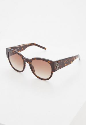 Очки солнцезащитные Saint Laurent SL M19002. Цвет: коричневый