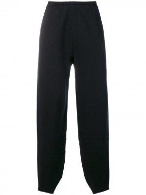 Спортивные брюки с вышивкой B Balenciaga. Цвет: черный