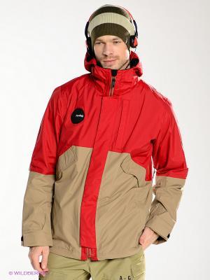 Куртка Analog. Цвет: красный, хаки