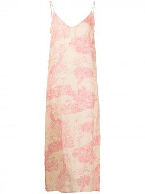 Ночная сорочка Lowland с принтом Desmond & Dempsey. Цвет: розовый