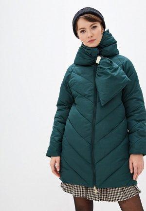 Куртка утепленная Elisabetta Franchi. Цвет: зеленый