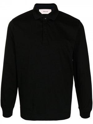 Рубашка поло с длинными рукавами Cerruti 1881. Цвет: черный