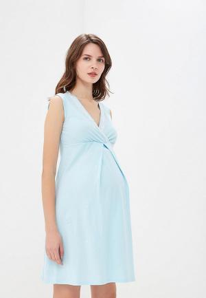 Сорочка ночная Очаровательная Адель. Цвет: голубой