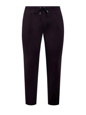 Монохромные брюки-чинос из эластичного хлопка MONCLER. Цвет: черный