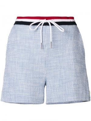 Фактурный твидовые шорты Thom Browne. Цвет: синий