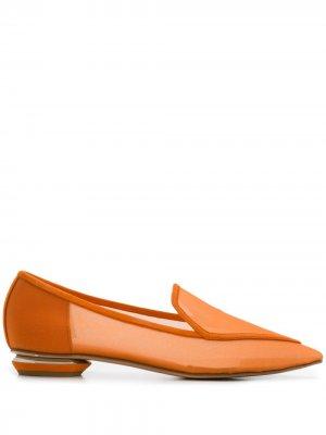 Сетчатые лоферы Beya 18 Nicholas Kirkwood. Цвет: оранжевый