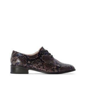 Ботинки-дерби La Redoute. Цвет: каштановый