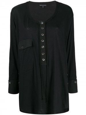 Блузка с круглым вырезом Ann Demeulemeester. Цвет: черный