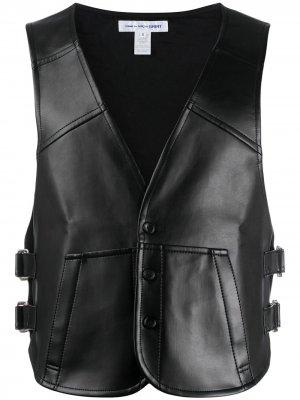 Жилет с глубоким V-образным вырезом Comme Des Garçons Shirt. Цвет: черный