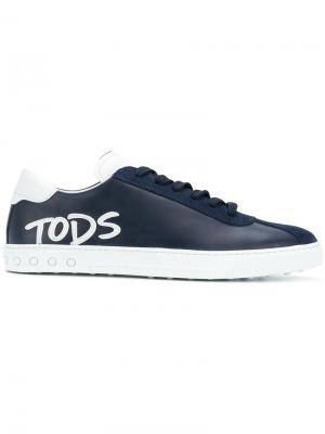 Tods кеды со шнуровкой и логотипом Tod's. Цвет: синий