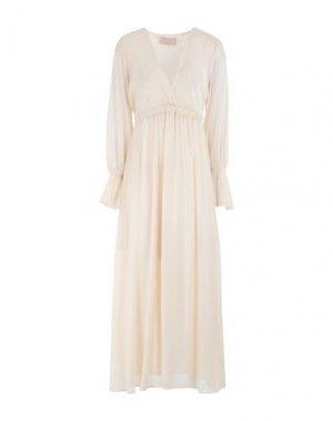 Платье миди KAOS JEANS. Цвет: бежевый
