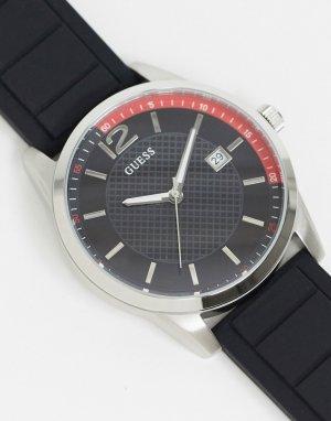 Черные часы с черным циферблатом -Черный Guess