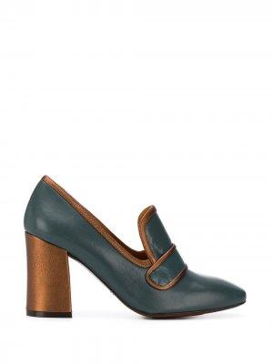 Vesna contrast-trimmed pumps Chie Mihara. Цвет: синий