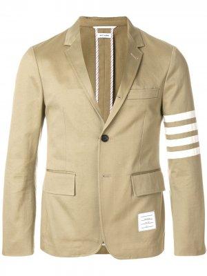 Классический пиджак с 4 полосками Unconstructed Thom Browne. Цвет: нейтральные цвета