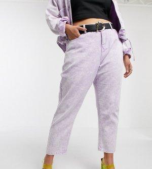 Мраморные джинсы в винтажном стиле от комплекта -Розовый Liquor N Poker Plus