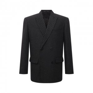 Шерстяной пиджак Valentino. Цвет: серый