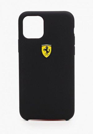 Чехол для iPhone Ferrari 11 Pro, On-Track Silicone case Black. Цвет: черный