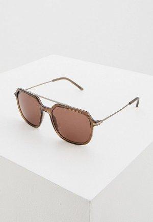 Очки солнцезащитные Dolce&Gabbana DG6129 325473. Цвет: коричневый