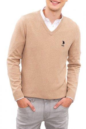 Пуловер U.S. Polo Assn.. Цвет: vr015 бежевый