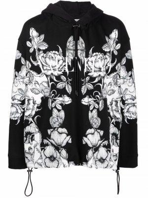 Куртка с капюшоном и принтом Valentino. Цвет: черный