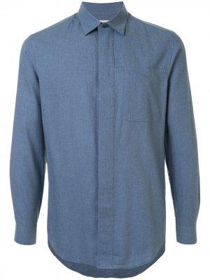 Рубашка свободного кроя с длинными рукавами Cerruti 1881. Цвет: синий