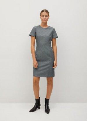 Короткое облегающее платье - Iriel Mango. Цвет: серый