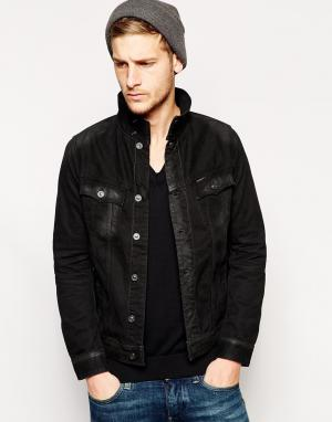 Джинсовая куртка G-Star. Цвет: черный