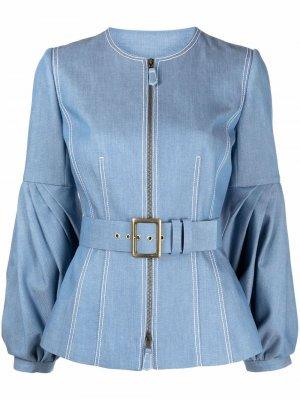 Джинсовая куртка с пышными рукавами Andrew Gn. Цвет: синий