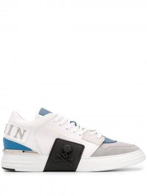 Кроссовки с логотипом Philipp Plein. Цвет: серый