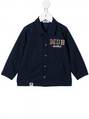Logo-print jacket Miki House. Цвет: синий