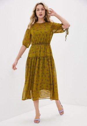 Платье Forus. Цвет: хаки
