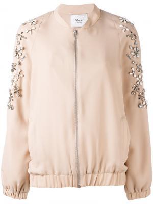 Куртка-бомбер с отделкой Blugirl. Цвет: розовый и фиолетовый
