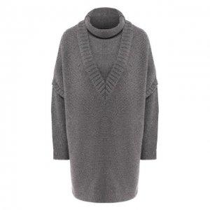 Пуловер из смеси кашемира и шерсти Kiton. Цвет: серый